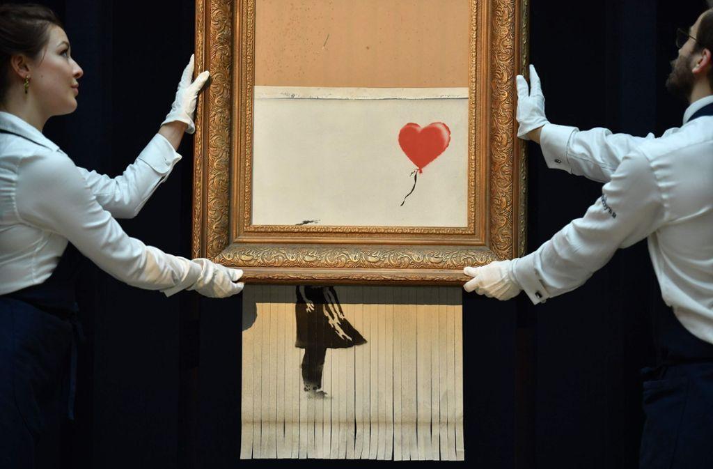 """Schon bald in der Stuttgarter Staatsgalerie: """"Girl With Balloon"""" Foto: AFP"""