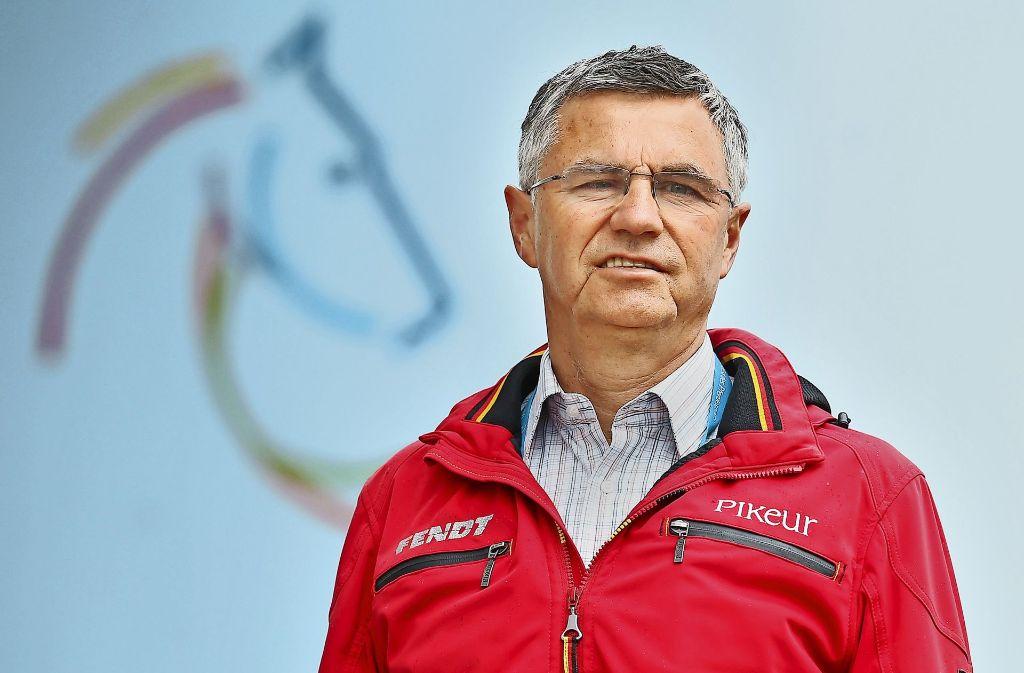 Vertragsverlängerung: Otto Becker betreut die deutschen Springreiter bis 2020 weiter.Otto Becker hat lange überlegt, ehe er bis 2020 verlängerte. Foto: Baumann