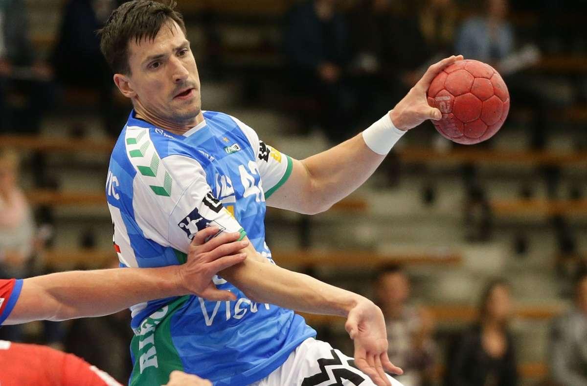 Starke Vorstellung und acht Treffer: Frisch-Auf-Linkshänder Nemanja Zelenovic. Foto: Baumann