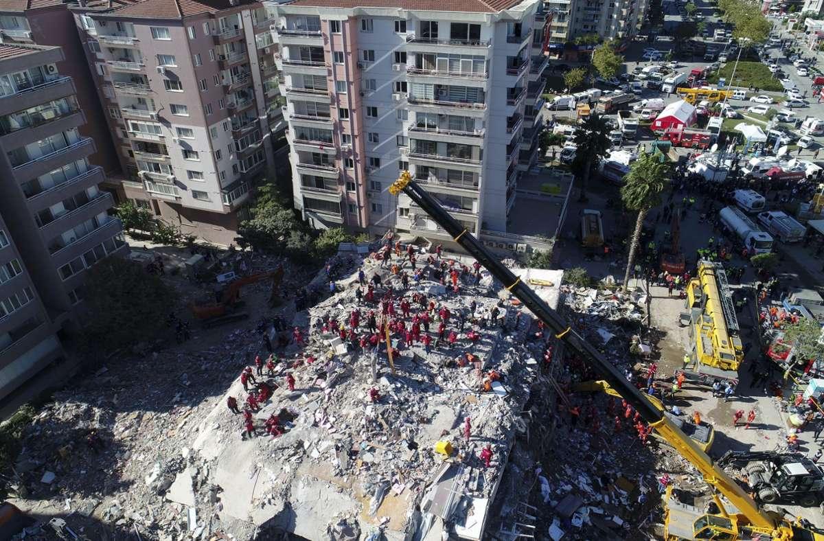 Am Freitag war es zu einem schweren Erdbeben im türkischen Izmir gekommen. Foto: dpa/Uncredited