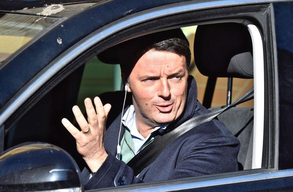 Ex-Premier Renzi scheint große Pläne zu haben. Einer ist offensichtlich, nach dem Urteil des Verfassungsgerichts wieder Ministerpräsident von Italien zu werden. Foto: dpa