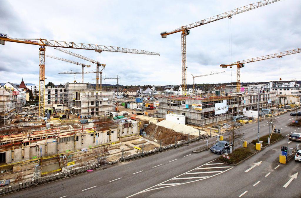 Das Steingauquartier in unmittelbarer Nähe zur Kirchheimer Innenstadt  entwickelt sich zum begehrten Wohngebiet. Foto: Pressefoto H. Rudel