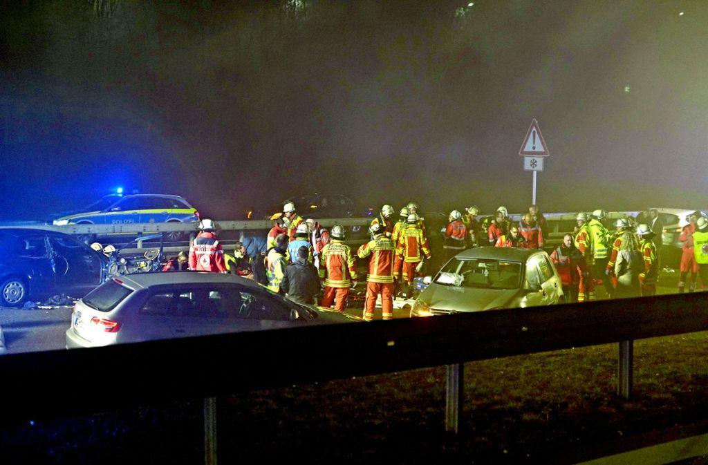 Auch in diesem Jahr hat es schon tödliche Unfälle gegeben –  auf der B27 bei Filderstadt starben am 1. Januar zwei Menschen. Foto: SDMG