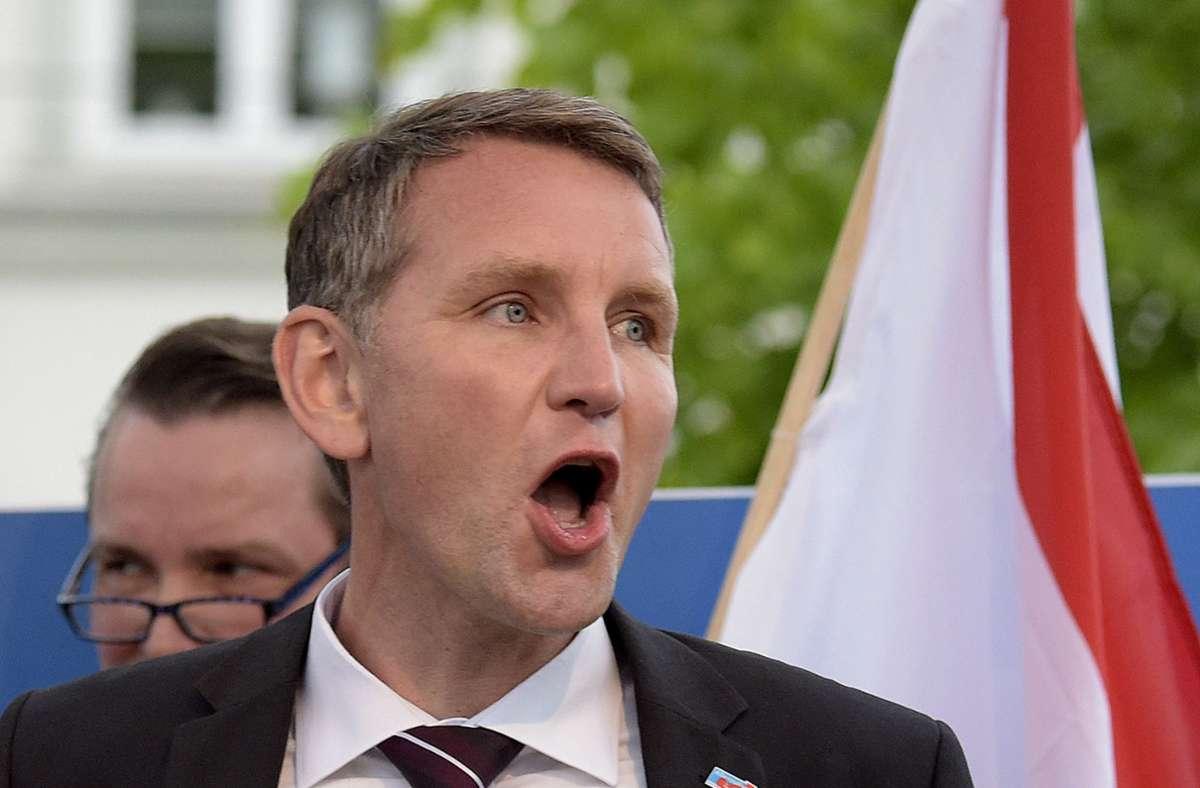 Der AfD-Politiker Björn Höcke hat vor dem Verwaltungsgericht Gera gewonnen. (Archivbild) Foto: AP/Jens Meyer