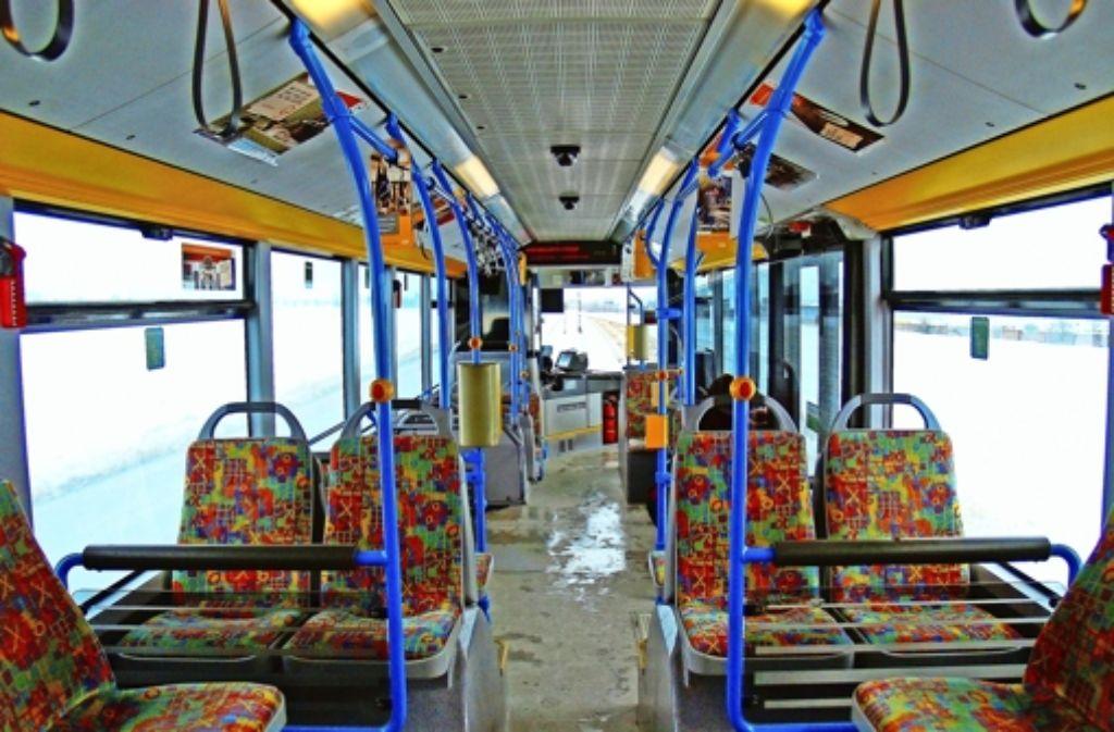 Gähnende Leere im 79er-Bus: Im Schnitt fahren zwei Leute pro Strecke mit dieser Linie. Foto: Archiv Ott
