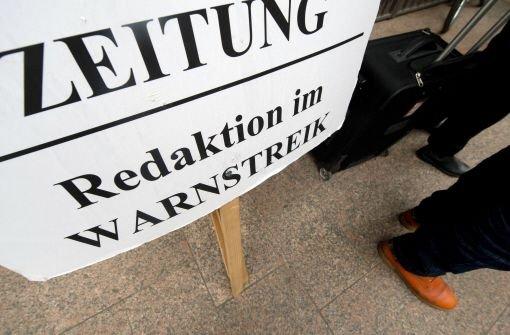 Hunderte Journalisten im Streik