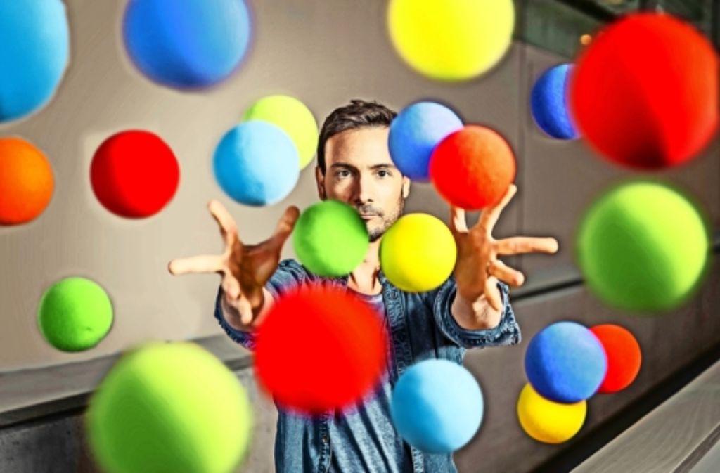 Eric Gauthier spielt mit Farben – und will dafür Geld von der Stadt. Foto: Maks Richter