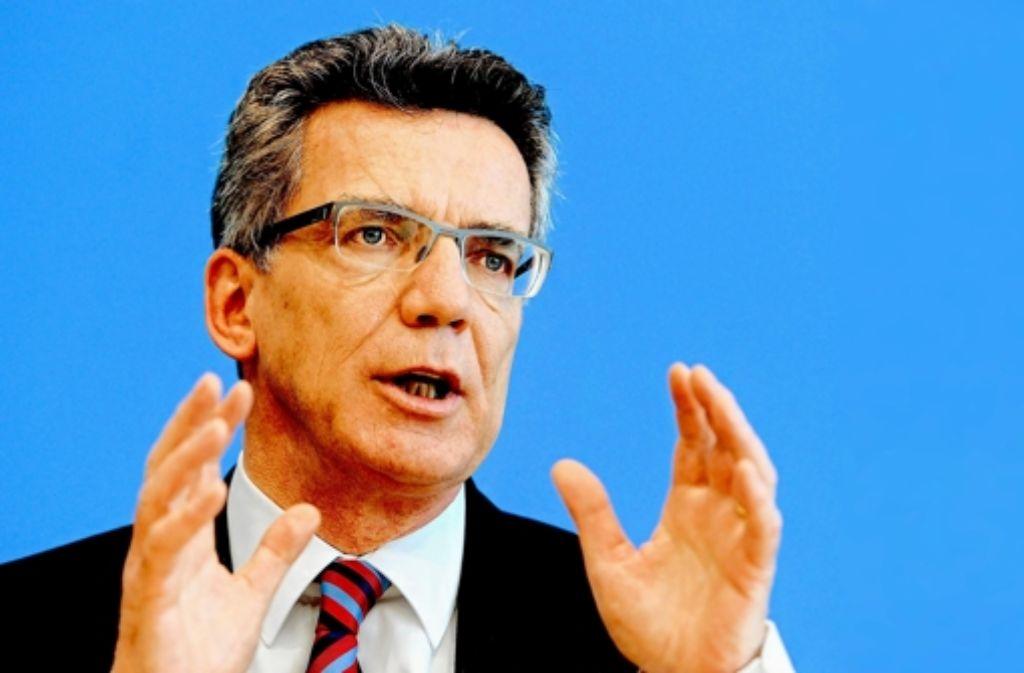 Verteidigungsminister Thomas de Maiziere (CDU Foto: dapd