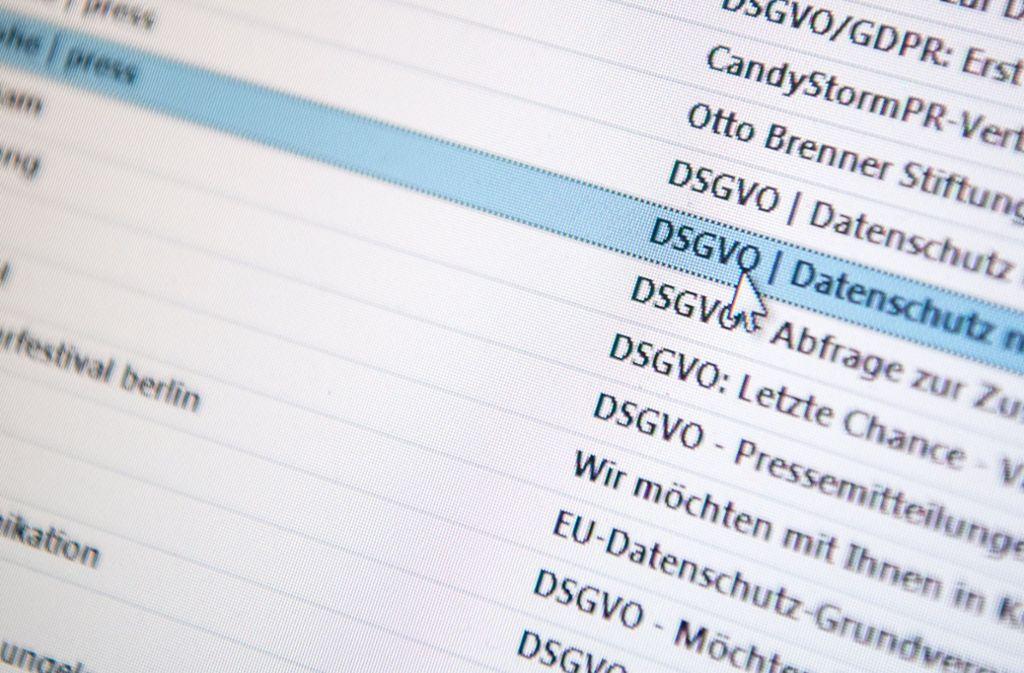 Der Datenschutz bereitet gerade kleineren Betrieben und Vereinen Probleme Foto: dpa