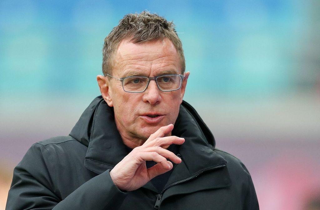 Klare Ansichten: Ralf Rangnick von RB  Leipzig Foto: