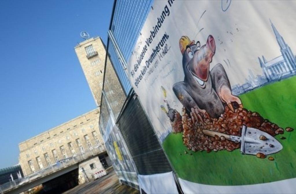Beim Betonwerk auf den Fildern droht Stuttgart 21 neues Ungemach. Wir dokumentieren die lange Geschichte des Bahnprojekts in einer Bilderstrecke. Foto: dpa