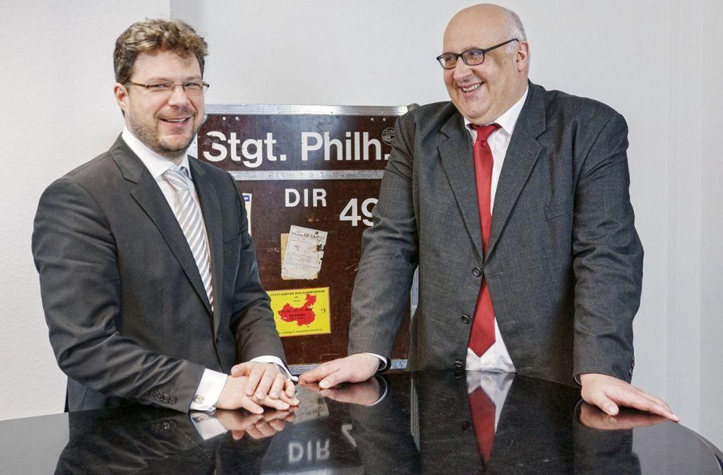 Tilman Dost (li.) und Michael Stille Foto: Dirk Lass