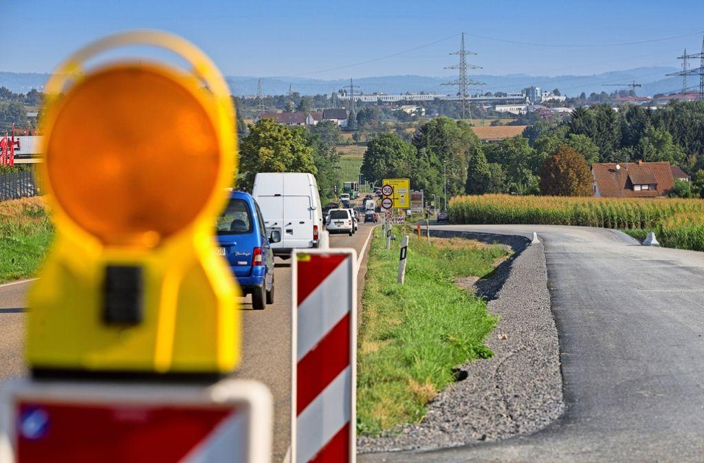 Der vierspurige Ausbau der B 14 ist nun durchgängig bis Backnang-West möglich Foto: Eppler