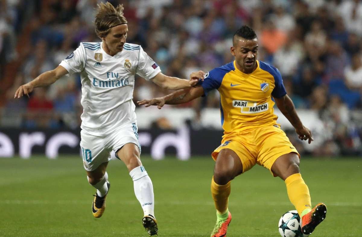 Apoel Nikosia schaffte es im Jahr 2012 bis ins Viertelfinale der Champions League. Erst dort scheiterte das Team aus Zypern an Real Madrid. Foto: imago/D/Fodi