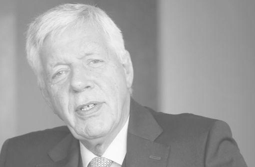 Ex-Wirtschaftsminister und Energiemanager  gestorben