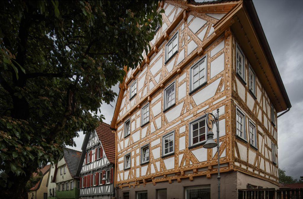 In der Kurzen Straße 11 in Waiblingen  lebte einst ein wichtiger Mann: der Stadtschreiber Foto: Gottfried Stoppel