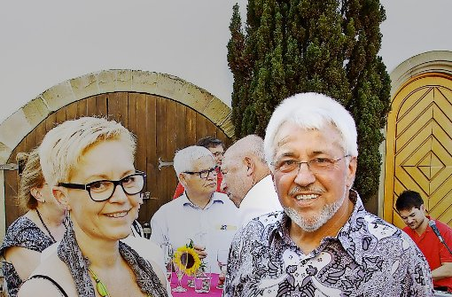 Ludwig Bez und Isolde Siegers beim Fest anlässlich Bez' Abschied 2013 Foto: factum/Weise