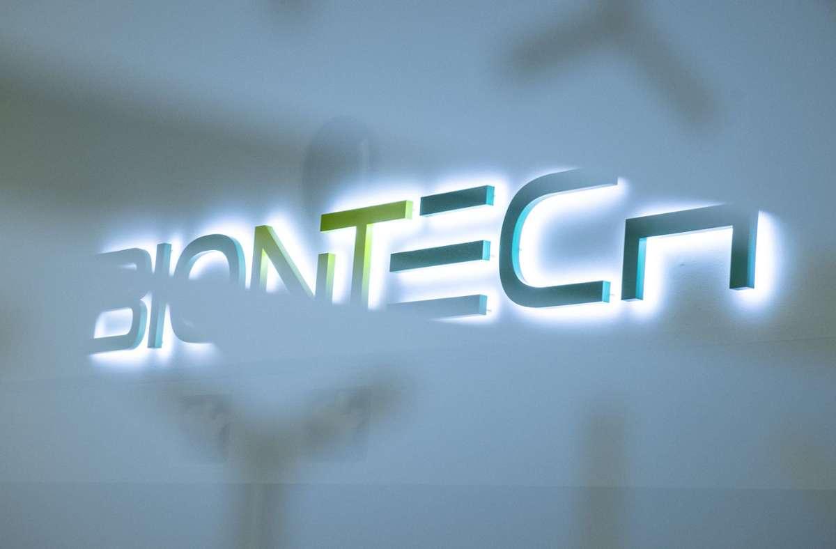 Biontech/Pfizer können gute Ergebnisse einer neuen Studie präsentieren. Foto: dpa/Boris Roessler