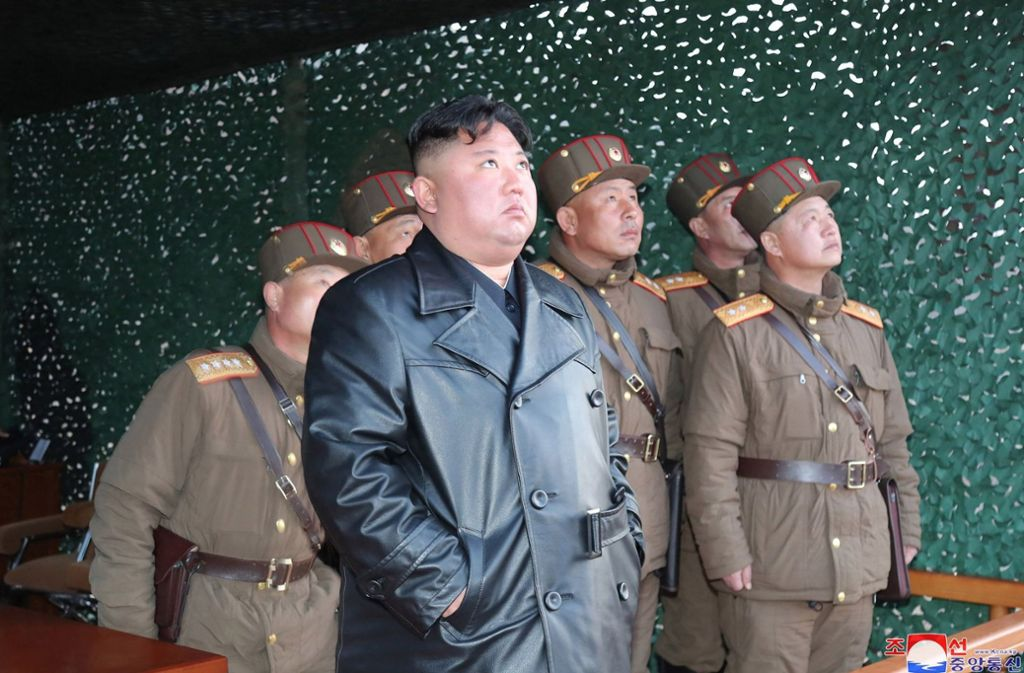 Kim Jong-un hält mit seinen Militärs Ausschau nach dem Virus. Foto: dpa