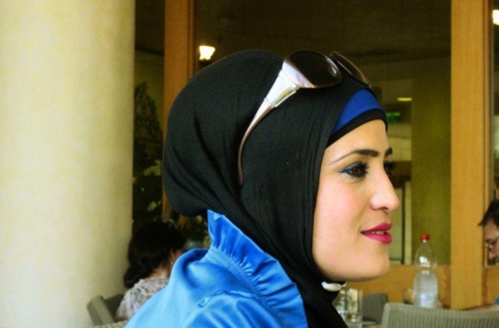 Die modebewusste Palästinenserin Ghada will zeigen, dass sie Muslima ist. Foto: Inge Günther