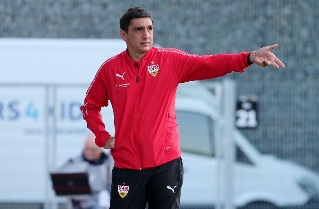 Wie sollte VfB-Trainer Tafyun Korkut spielen lassen? Foto: Baumann