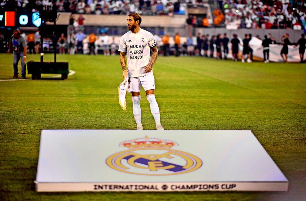 Real-Ikone Sergio Ramos hat eine eigene Theorie für die Schlappe. Foto: AFP