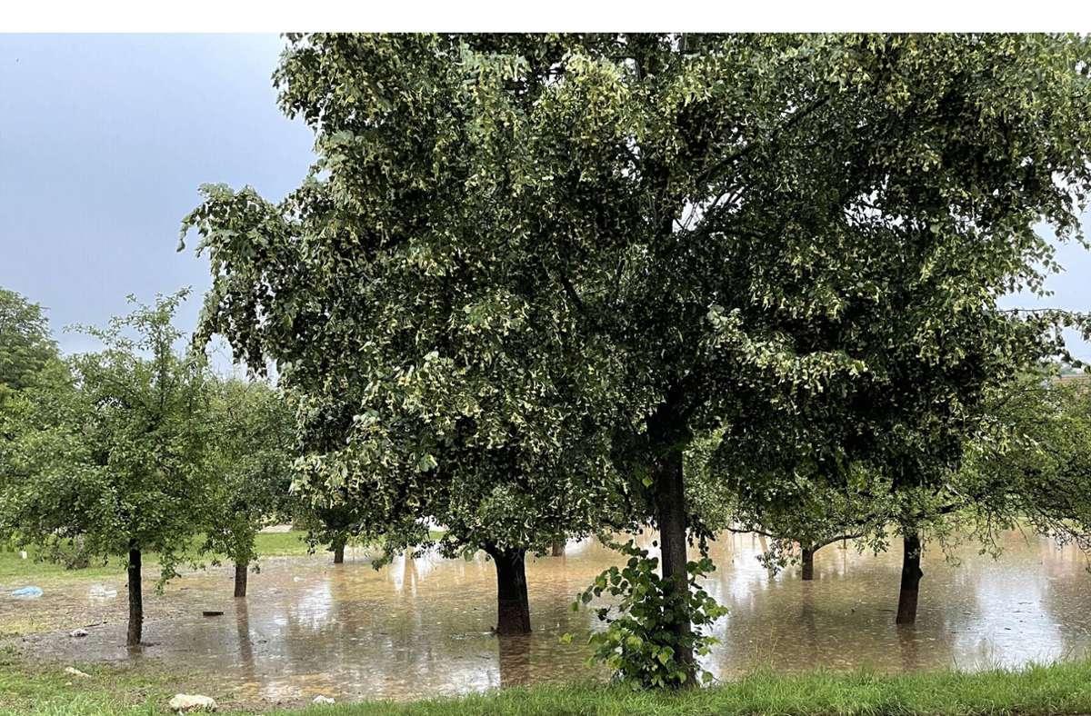 Mitunter im Kreis Esslingen tobten heftige Unwetter. Foto: imago images/7aktuell/Alexander Hald