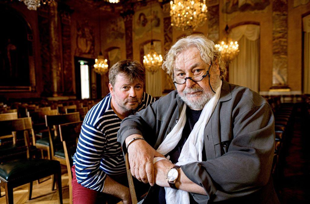 Patrick Bebelaar (links) und Herbert Joos 2018 im Ludwigsburger Schloss Foto: /Rüdiger Schestag