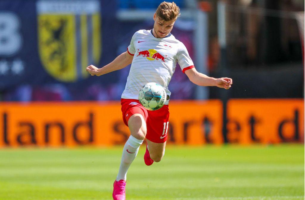 Mit seinem Tempo eine Riesenwaffe: Leipzigs Stürmerstar Timo Werner Foto: dpa/Jan Woitas