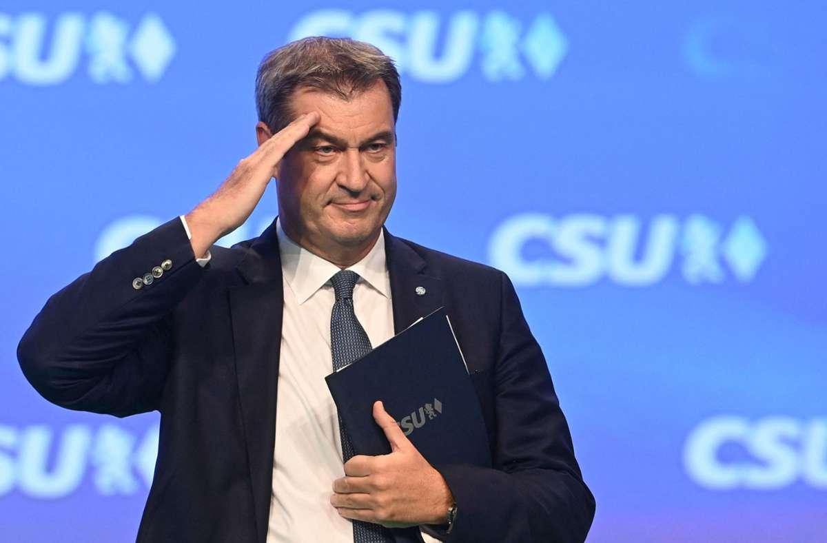 Wurde in seinem Amt bestätigt: CSU-Mann Markus Söder. Foto: AFP/CHRISTOF STACHE