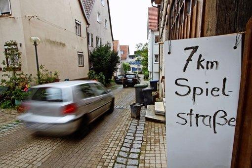Spielstraße wird zur Rennpiste