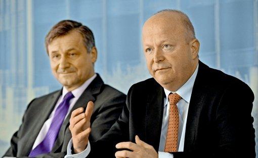 Wollen nach der Landtagswahl am 13.  März nicht um jeden Preis mitregieren: Der FDP-Spitzenkandidat Hans-Ulrich Rülke und der Landeschef Michael Theurer Foto: dpa