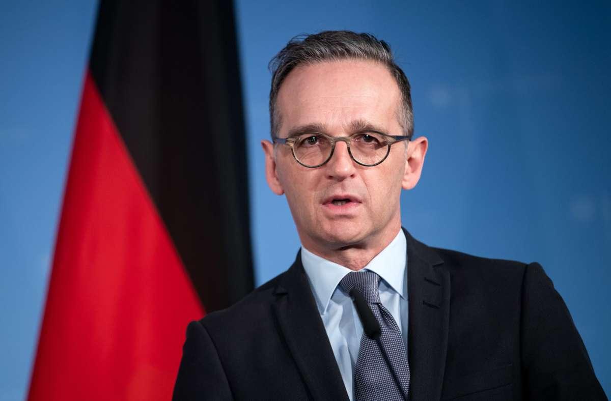 Heiko Maas befürwortet, EU-Sanktionen gegen Belarus zu prüfen. Foto: dpa/Bernd von Jutrczenka