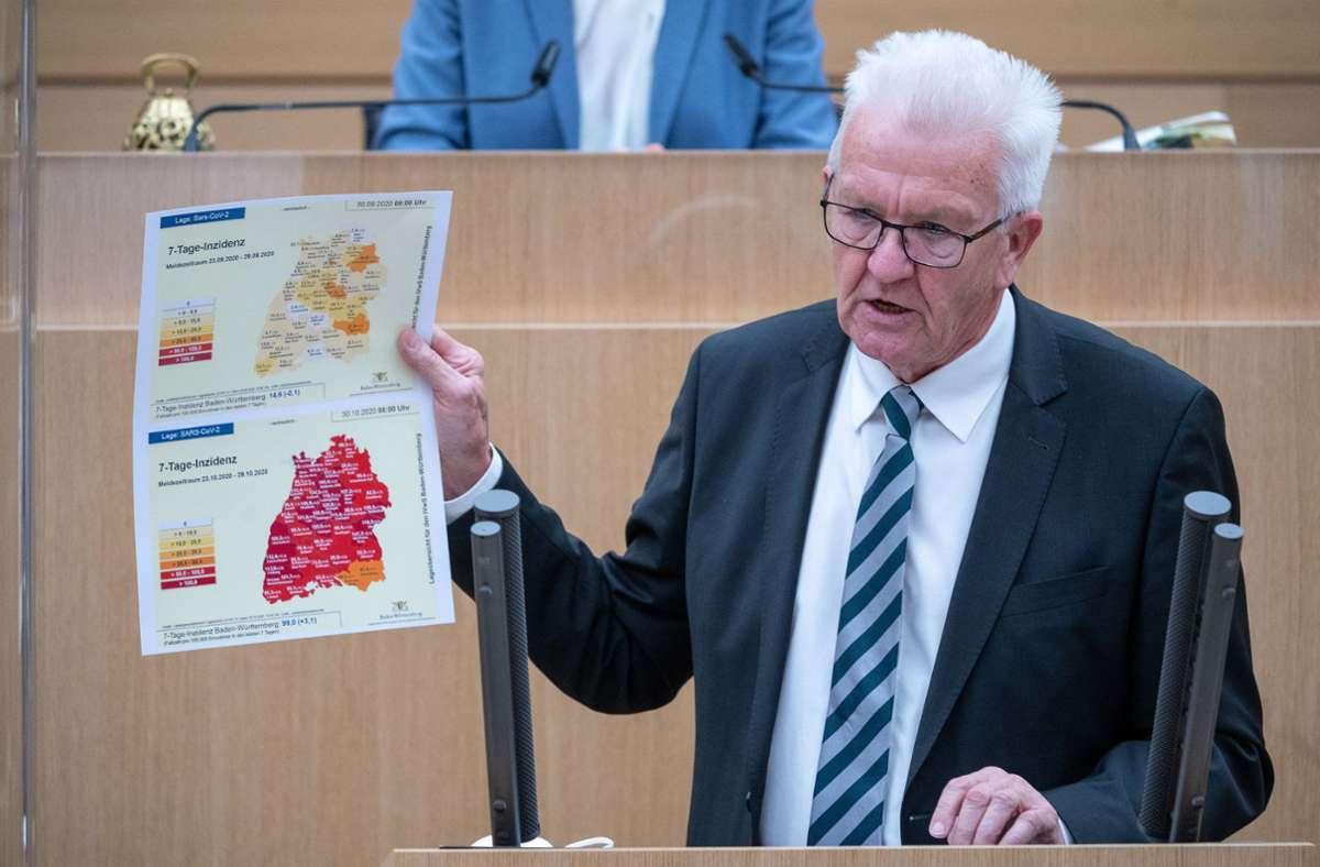 Ministerpräsident Winfried Kretschmann (Archivbild) Foto: dpa/Sebastian Gollnow