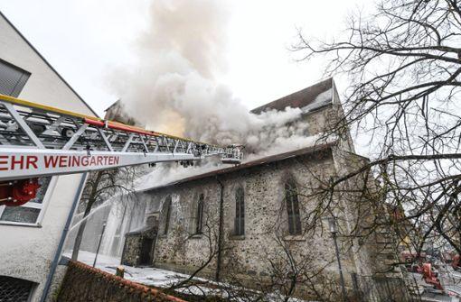 Brand in Kirche führt zu Großeinsatz der Feuerwehr