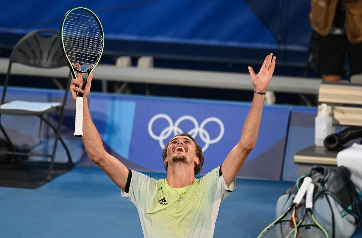 Alexander Zverev gewinnt die Goldmedaille. Foto: AFP/VINCENZO PINTO