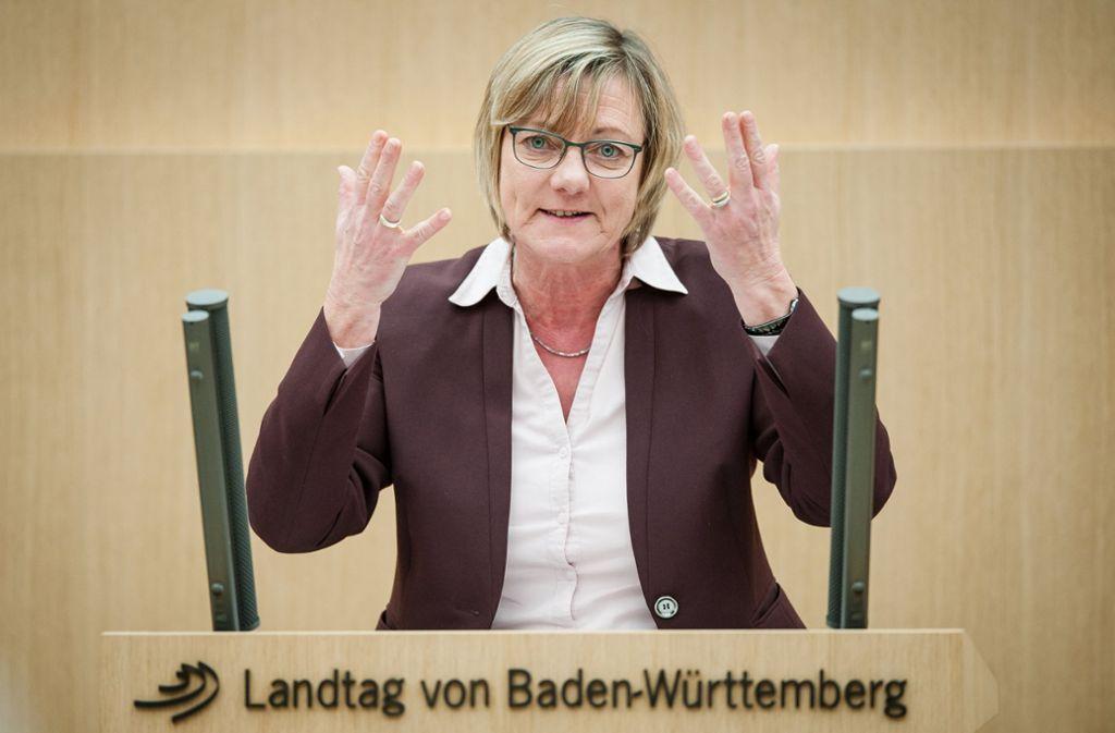 Finanzministerin Edith Sitzmann (Grüne) hat einen Nachtrag für den Landesetat 2018/2019 angekündigt. Foto: dpa