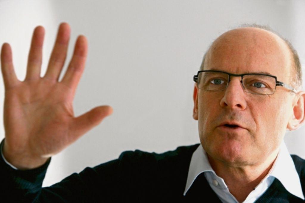 """Winfried Hermann: """"Es ist ein großer Schritt, dass dieser Dialog auf den Fildern überhaupt zustande kommt."""" Foto: Achim Zweygarth"""
