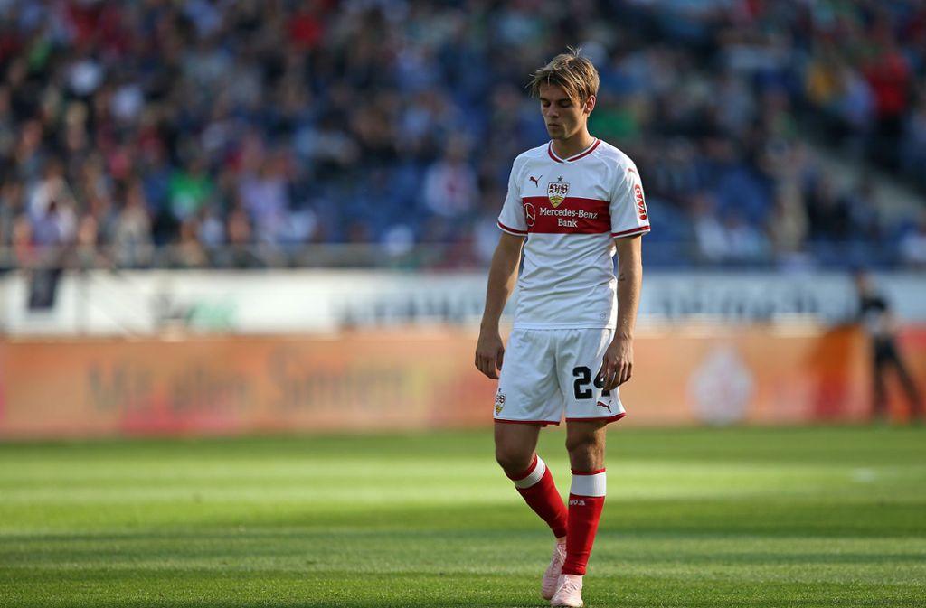 Borna Sosa spielt derzeit beim VfB Stuttgart so gut wie keine Rolle mehr. Foto: Baumann
