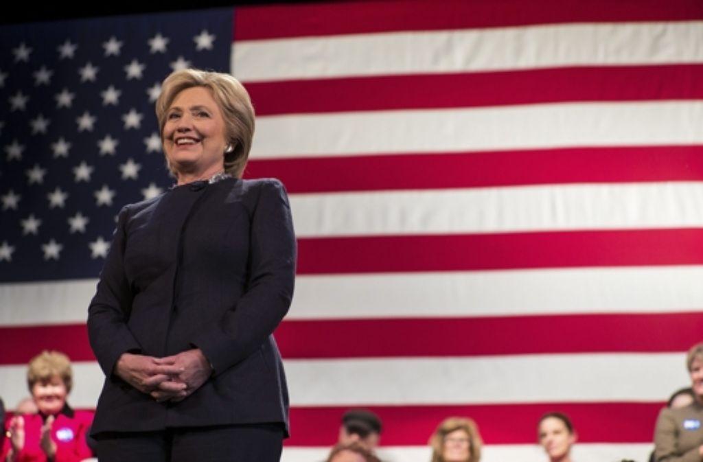 Tritt für die US-Demokraten an: Hillary Clinton Foto: dpa