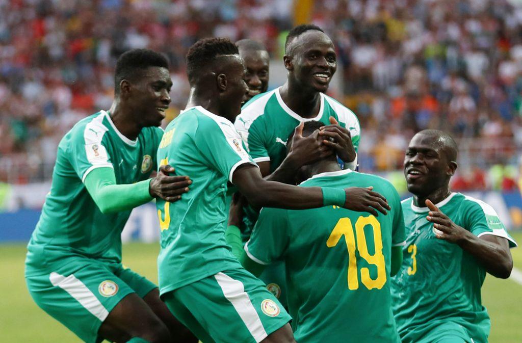 Historischer Erfolg für Senegal bei der WM 2018 in Russland Foto: AP