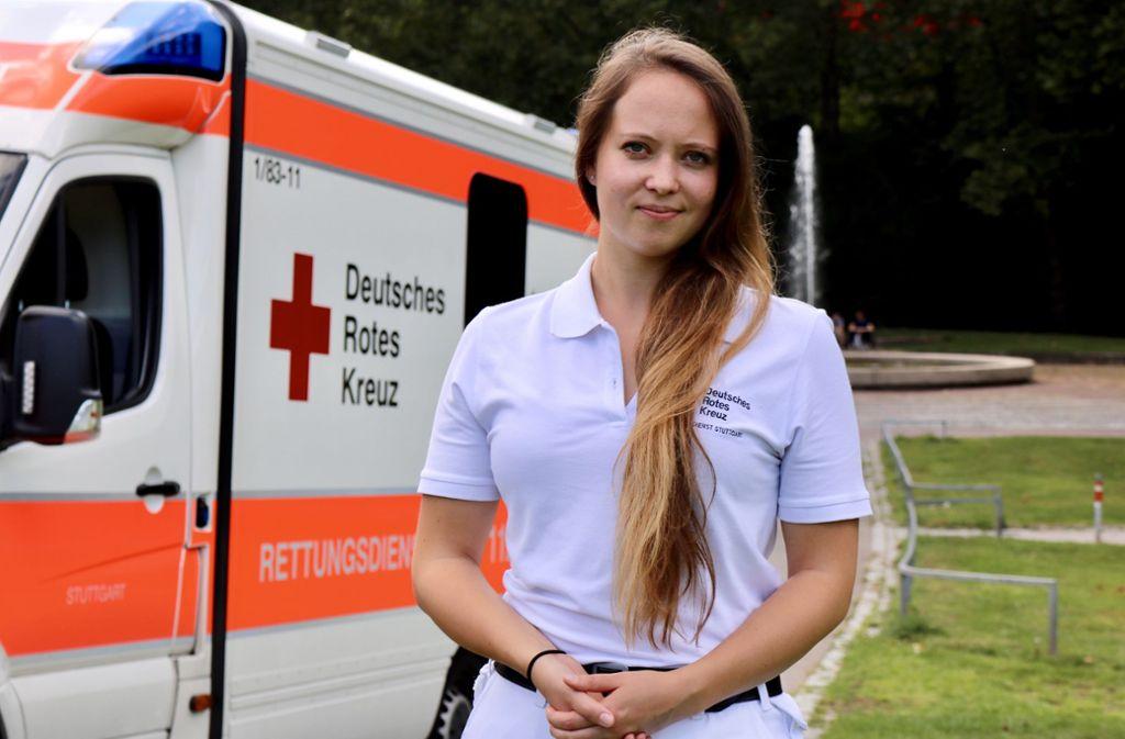 Die 24 Jahre alte Wiebke Turner arbeitet beim Deutschen Roten Kreuz in Stuttgart. Foto: Jonas Schöll