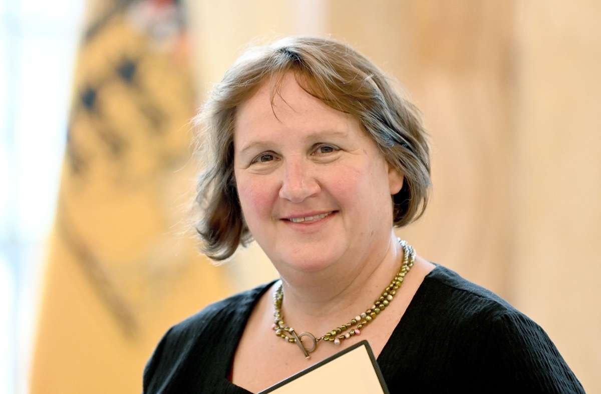 Baden-Württembergs neue Kultusministerin Theresa Schopper Foto: dpa/Bernd Weissbrod