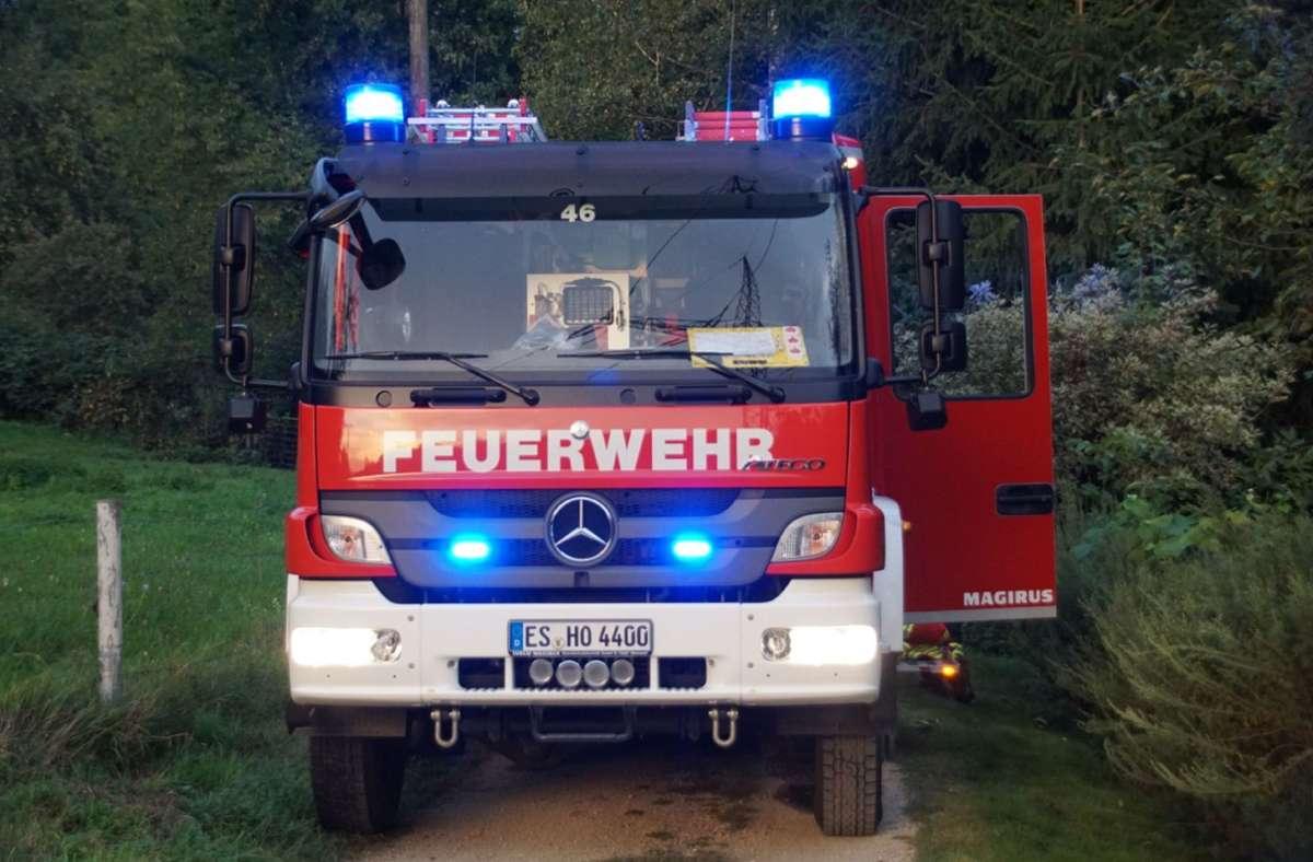 In Hochdorf gab es einen Brand auf einem Wiesengrundstück. Foto: /SDMG / Boehmler
