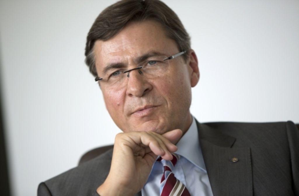 IHK-Präsident Herbert Müller sitzt künftig nicht mehr in der Vollversammlung der Industrie- und Handelskammer Region Stuttgart. Foto: Steinert