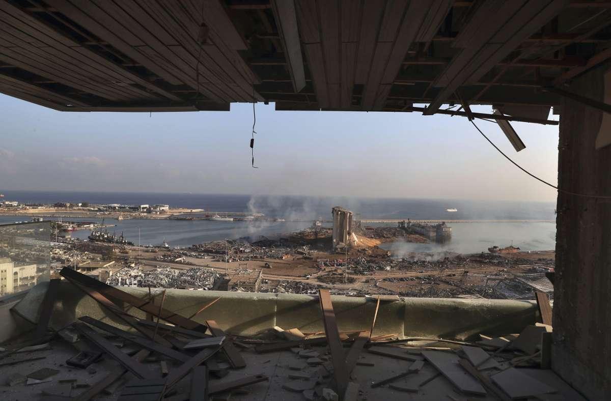 Bei dem Unglück in Beirut gab es zahlreiche Tote und Verletzte. Foto: dpa/Bilal Hussein