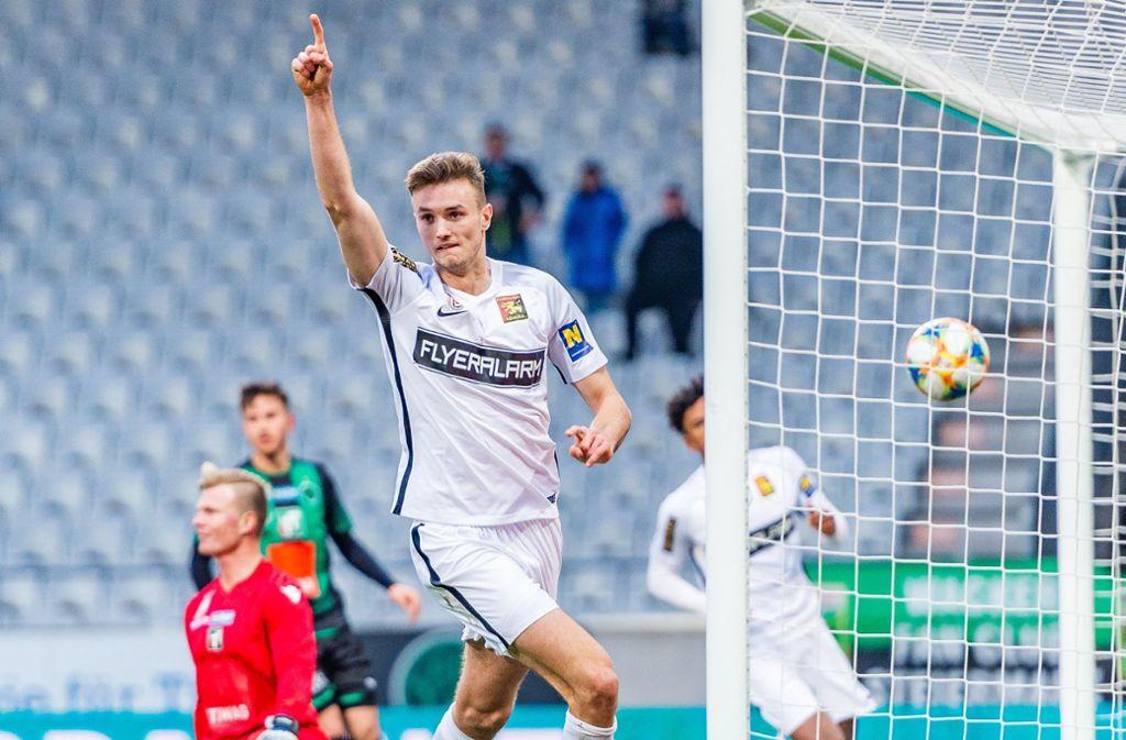 Sasa Kalajdzic wechselt von Admira Wacker  Mödling zum VfB Foto: picture alliance