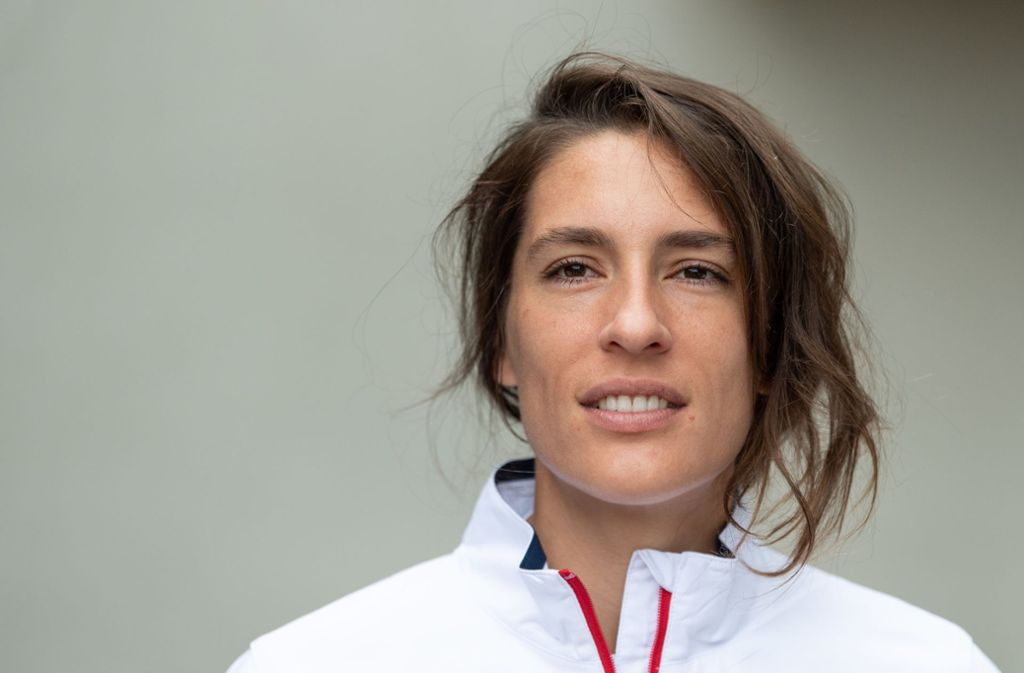 Tennis-Star Andrea Petkovic steht künftig im ZDF vor der Kamera. Foto: dpa/Robert Michael