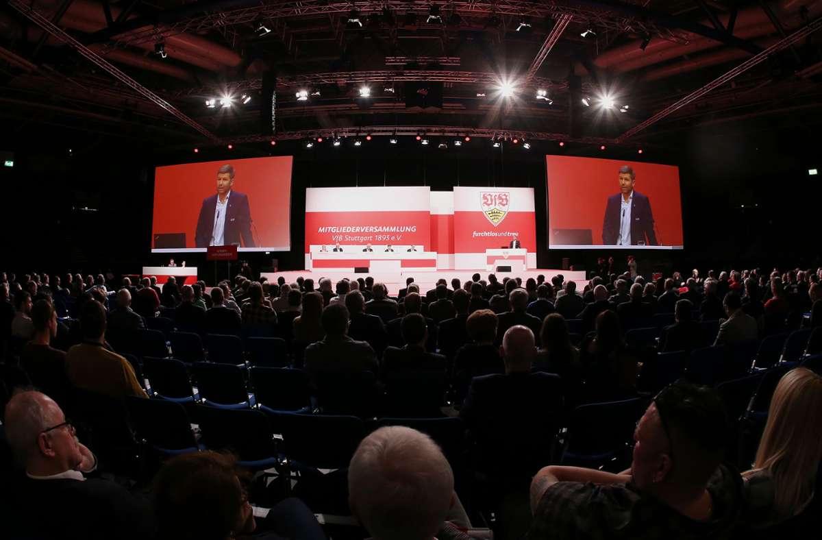 Bei der anstehenden Mitgliederversammlung des VfB Stuttgart könnte ein möglicherweise  richtungsweisender Satzungsänderungsantrag auf der Tagesordnung stehen. Foto: Baumann