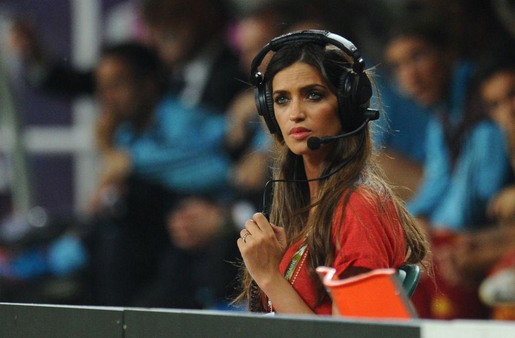 Die spanische Fernsehmoderatorin Sara Carbonero ist mit Keeper Iker Casillas liiert. Foto: dpa